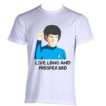 Camiseta Star Trek Jornada Nas Estrelas Spock Black - P A Gg