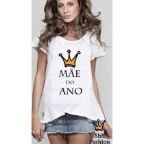 Camiseta Gestante Gravida Mãe Do Ano Personalizada Feminina