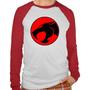 Camiseta Raglan Manga Longa Thundercats Desenho Infantil