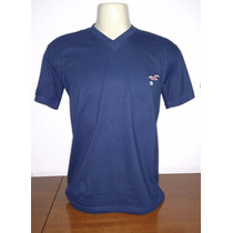 Camiseta Gola V Hollister Pronta Entrega