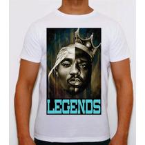 Camisa Personalizada Tupac E Notorious Big Legends Hiphop Pl
