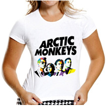 T-shirt Baby Look Feminina Arctic Monkeys