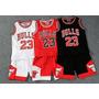 Regata Camiseta Nba Conjunto Infantil Basquete Chicago Bulls