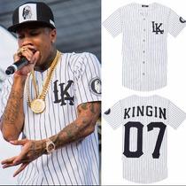 Camisa 2015 Last Kings Baseball Tyga Hip Hop Cease
