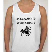 Camiseta Regata Acampamento Meio-sangue Percy Jackson