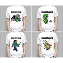 Kit 15 Camiseta Camisa Infantil Aniversário Festa Minecraft