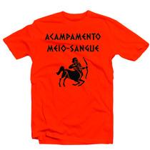 Camiseta Acampamento Meio-sangue Percy Jackson Filme Livros