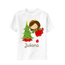 Camiseta Arvore Anjo Noel Infantil - Feliz Natal