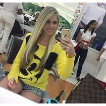 Blusa De Frio Feminina Personagem Mickey Cardigãs Lã Trico