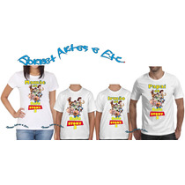 Camiseta - Camisa Personalizada Qualquer Tema 4 Peças A4