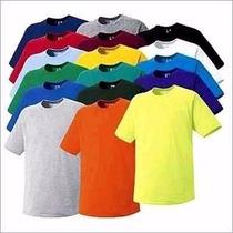 Kit 10 Camisetas Infantil Básica Lisa 100% Algodão