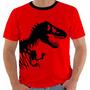 Camiseta Jurassic Park - T-rex - Dinossauros - Moveis