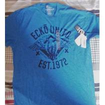 Camiseta Masc Ecko Unltd. Azul Gg E Vermelha M Original