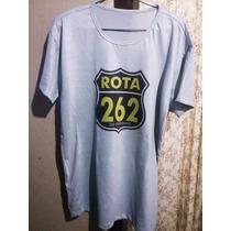 Camiseta Cinza Rota 262 Tradicional Ou Babylook