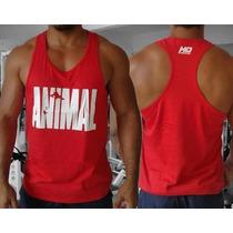 Combo 5 Regatas Cavada Nadador Animal Pak Musculação Fitness