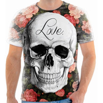 Camiseta Caveira Mexicana Estampada Masculina E Feminina 000