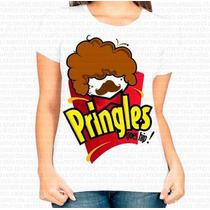 Camiseta Gola Careca Menina Pringles Black Power Afro