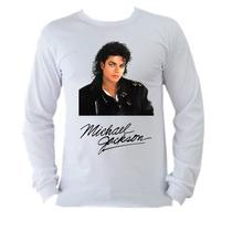 Camiseta Michael Jackson Thriller Manga Longa Adulto 3