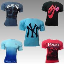 Kit Com 10 Camisa Camiseta Hollister Abercombie Frete Grátis