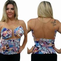 Blusa Estampada Com Detalhe Em Tule - Oxigeno Refe 1234