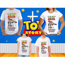 Kit 4 Camisetas Personalizadas Toy Story Aniversario