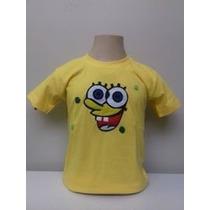 Camiseta Infantil Bob Esponja Mod 2
