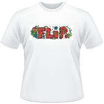 Camiseta Camisa Personalizada Skate Flip