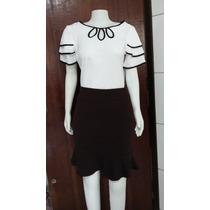 Conjunto Moda Evangelica Executiva Social Saia+blusa