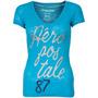 Pacote De 3 Aeropostale Mulheres V Tshirts- Cores- Azul