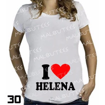 Camiseta De Grávida Gestante I Love My Baby Personalize Nome
