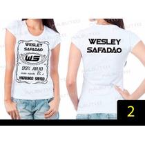 Baby Look Wesley Safadão 99% Anjo 1% Vagabundo Safado Ws