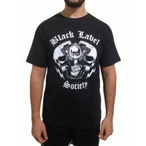 Camiseta De Rock Black Label Society Caveira Motor Preta