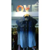 Camisa Jeans Feminina Importada Fashion Pronta Entrega