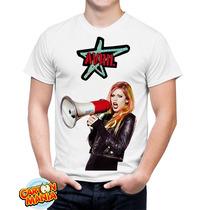 Camiseta Branca Avril Lavigne Pop Punk Rock