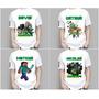 Camiseta Camisa Infantil Minecraft Creeper Pesonalizada Nome