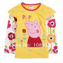 Camiseta Import Manga Longa Peppa Pig Bebê, Abaixo Do Custo!
