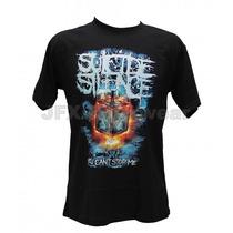 Camisa De Manga Curta Rock Banda Suicide Silence Stop Me