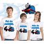 Camiseta Thomas Trem Aniversário Personalizada Kit Com 3