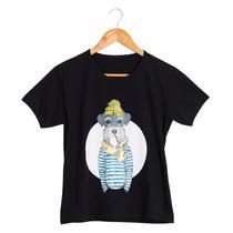Camiseta Estampada Cachorro Marinheiro