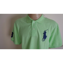 Camisa Polo By Ralph Lauren Verde Cavalo Azul Tam Xxl
