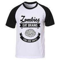 Camiseta Raglan Manga The Walking Dead - Zombie Brain