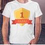 Camiseta Estampa Masculina Papai Numero 1