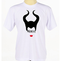 Camisa Camiseta Personalizada Malevola Manga Curta Babylook