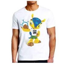 Camiseta Poliester Fuleco Copa Do Mundo No Brasil 2014