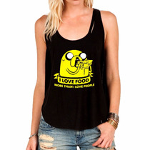 Camiseta Regata Jake Hora Da Aventura Feminina