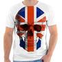 Camiseta Camisa Personalizada Caveira Inglaterra Skull 150