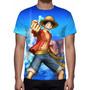 Camisa, Camiseta Anime One Piece - Monkey D. Luffy