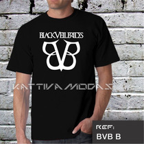 Camiseta Black Veil Brides Bvb Bandas Rock Pronta Entrega