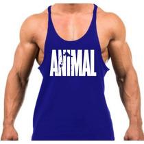 Promoção 5 Camisetas Regatas Super Cavada Animal Musculação.
