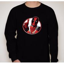 Camiseta Manga Longa Deadpool - Várias Cores